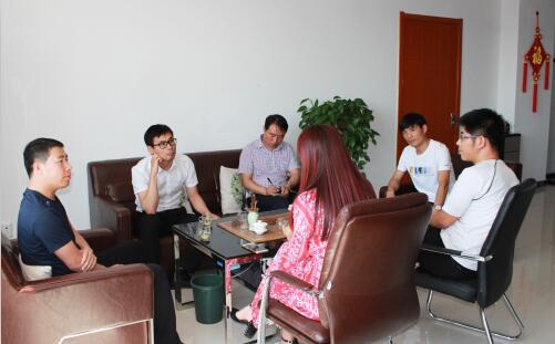 承德腾飞职业技术专修学院于杰院长一行四人来公司考察交流